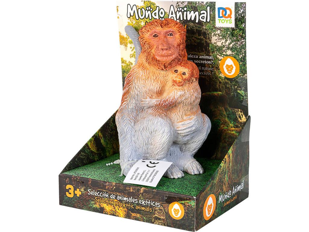 Mundo Animal Figura Mono con Monito 14 cm.