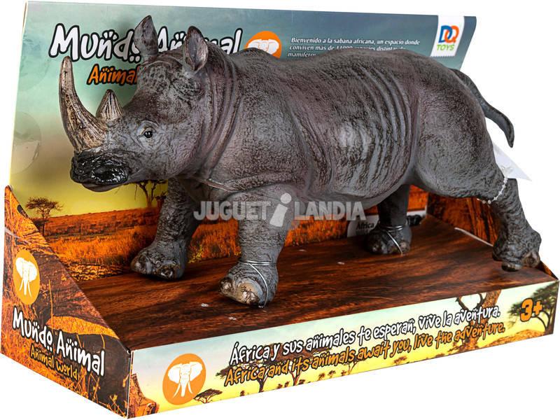 Mundo Animal Figura Rinoceronte 27 cm.