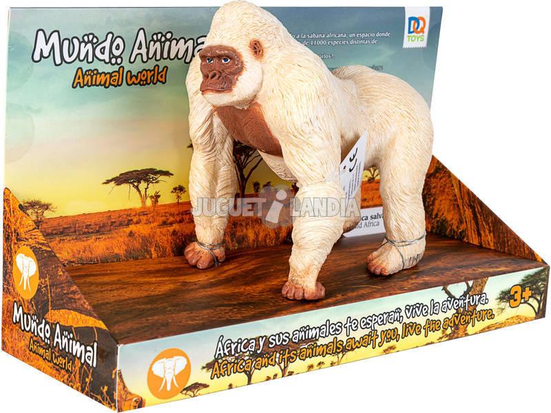 Mundo Animal Figura Gorila Blanco 15 cm.
