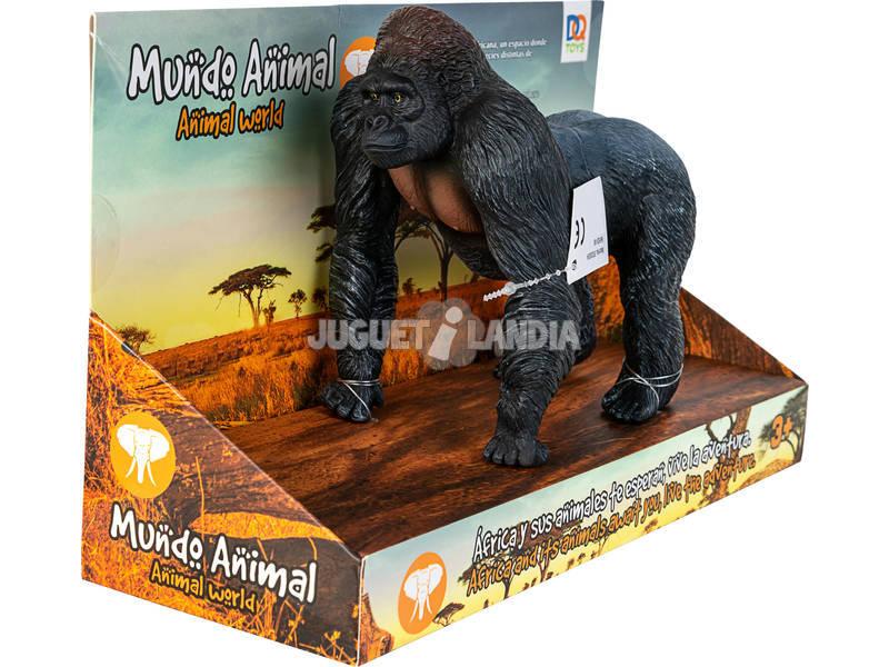 Mundo Animal Figura Gorila Negro 15 cm.