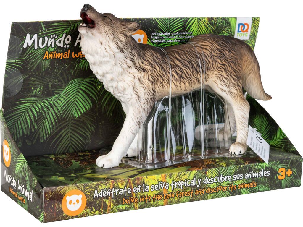 Mundo Animal Figura Lobo Aullando 23 cm.