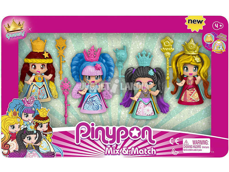 Pinypon Pack Queens 4 Figuras Famosa 700015821