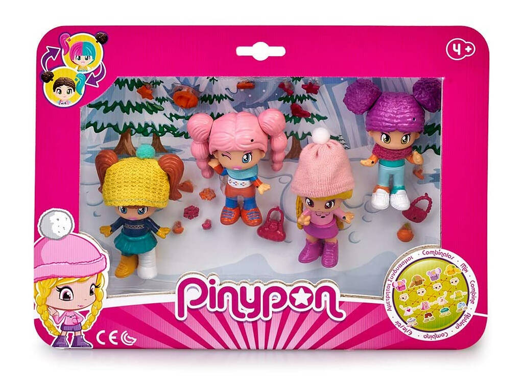 Pin y Pon Pack 4 Figuras Nieve Famosa 700015771