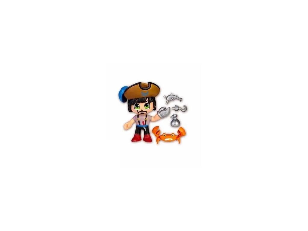 Pinypon Action Figura Pirata Con Mascota Cangrejo Famosa 700015801