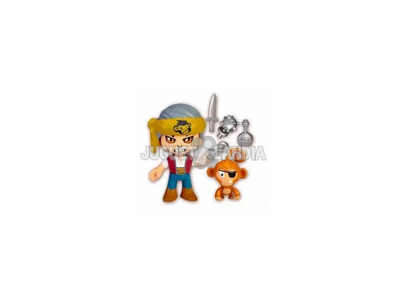 Pinypon Action Figura Pirata Con Mascota Mono Famosa 700015801