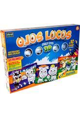 Ojos Locos 3D Ilustraciones para Colorear