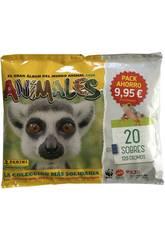 Animales 2020 Pack Ahorro 20 Sobres Panini