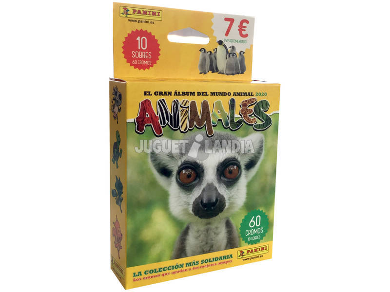 Animales 2020 Pack 10 Sobres Panini