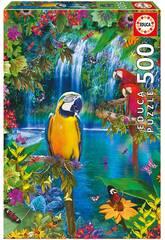 Puzzle 500 Paraíso Tropical Educa 15512