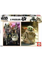 Puzzle 2x500 Baby Yoda The Mandalorian Educa 18871
