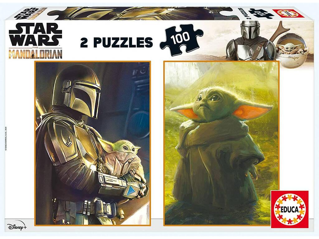 Puzzle 2X100 Baby Yoda The Mandalorian d'Educa 18872