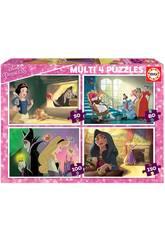Puzzle Multi 4 Villanos Disney Educa 18626