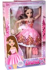 Muñeca Emma Maniquí Articulada 56 cm. Rosa con 2 Vestidos