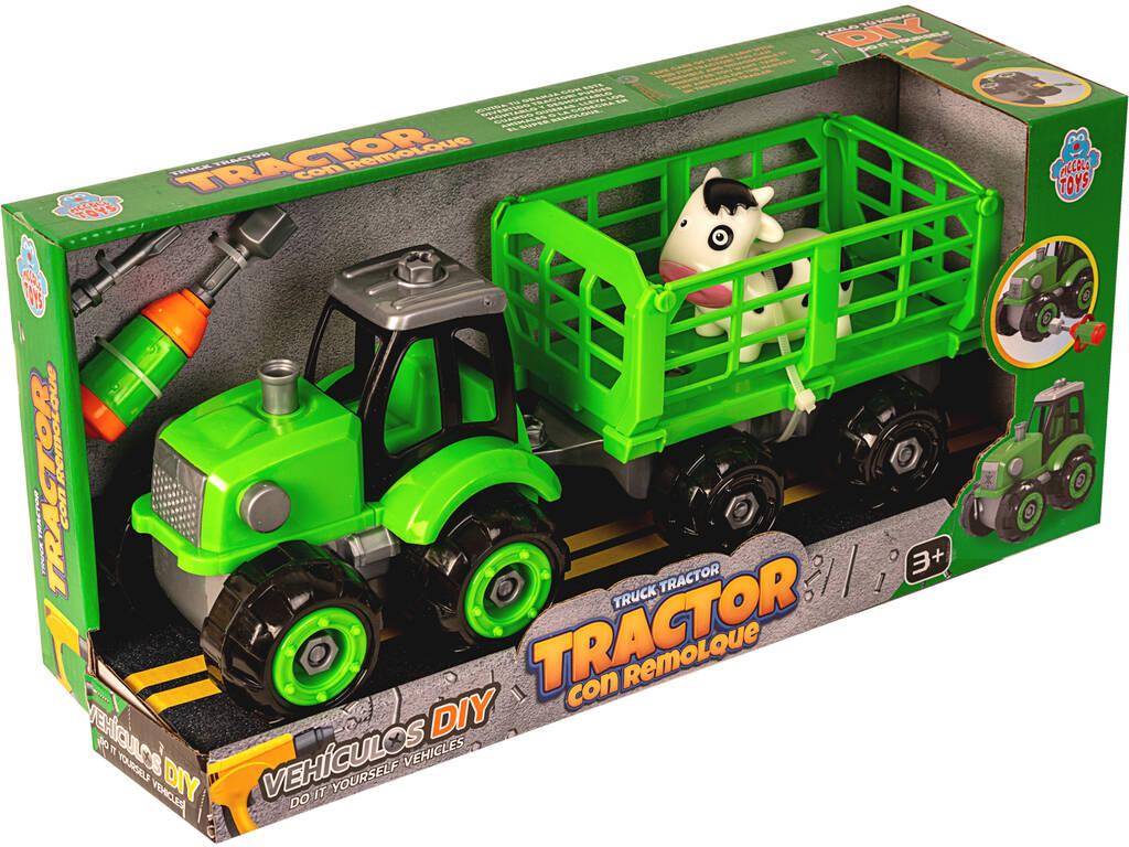 Tractor con Remolque y Vaquita