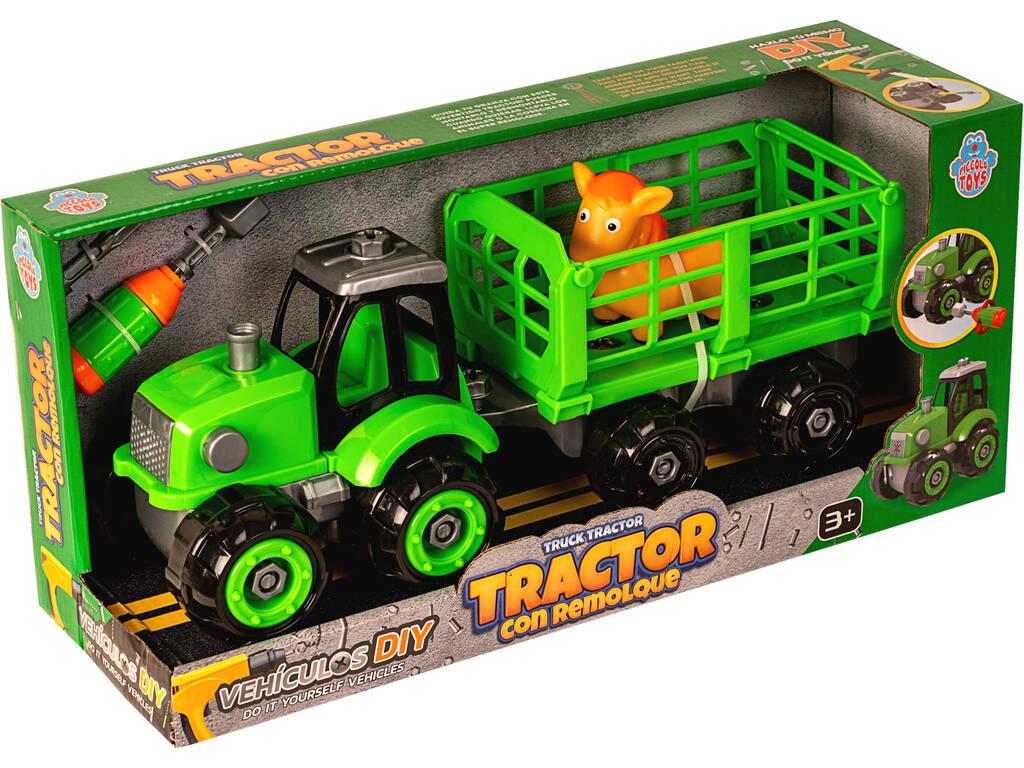 Tractor con Remolque y Caballo