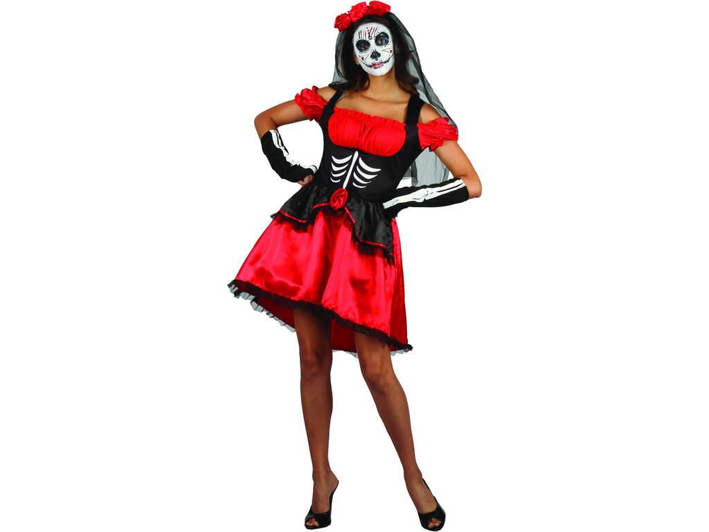 Disfraz Día de Los Muertos Mujer Talla S