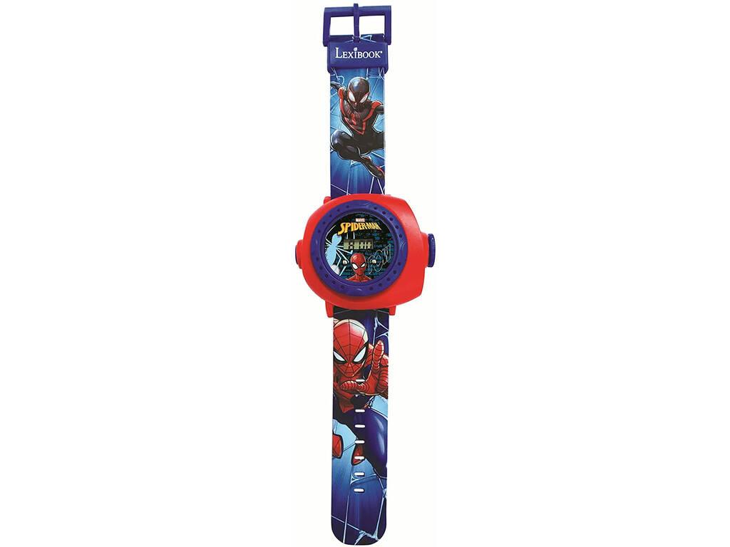 Spiderman Reloj Proyector Digital con 20 Proyecciones Lexibook DMW050SP