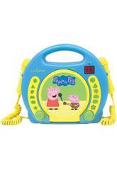 Peppa Pig Lector CD Portatil con 2 Microfonos Lexibook RCDK100PP