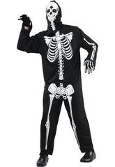 Disfraz Adulto Hombre Esqueleto Talla M