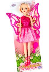 Boneca Fada 30 cm. Saia Cor-de-rosa Tule