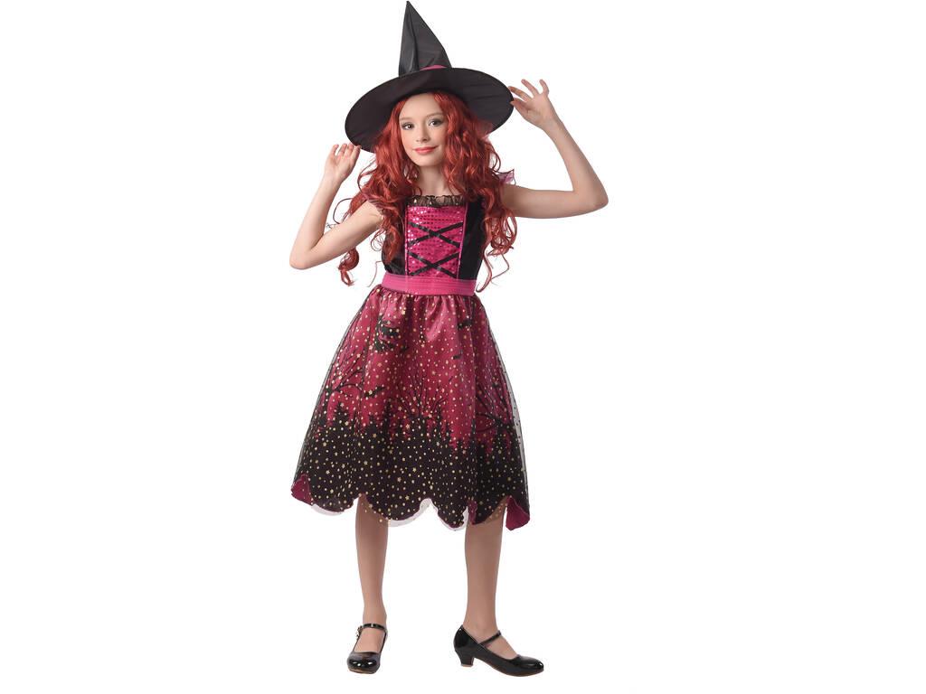 Disfraz Bruja Rosa Niña Talla S