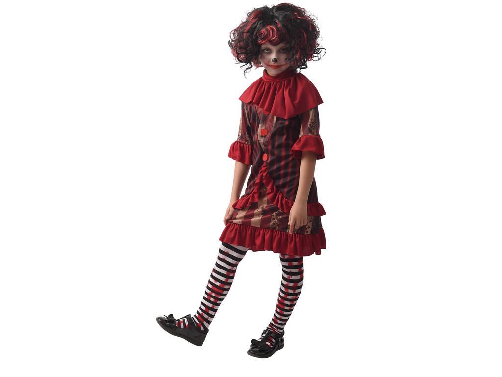 Disfraz Creepy Clown Niña Talla M