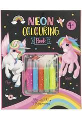 Ylvi et Les Minimoomis Livre de Coloriage avec des Marqueurs au Néon 10331