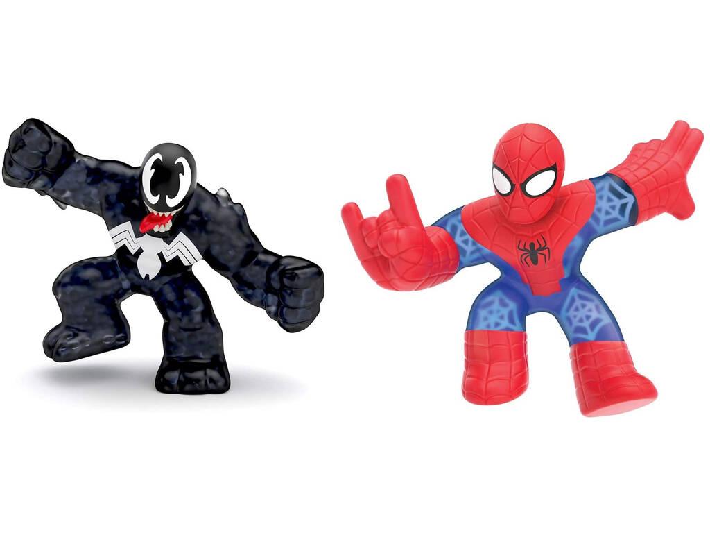 Goo Jit Zu Pack 2 Héroes Marvel Spiderman Vs Venom Bandai CO41146