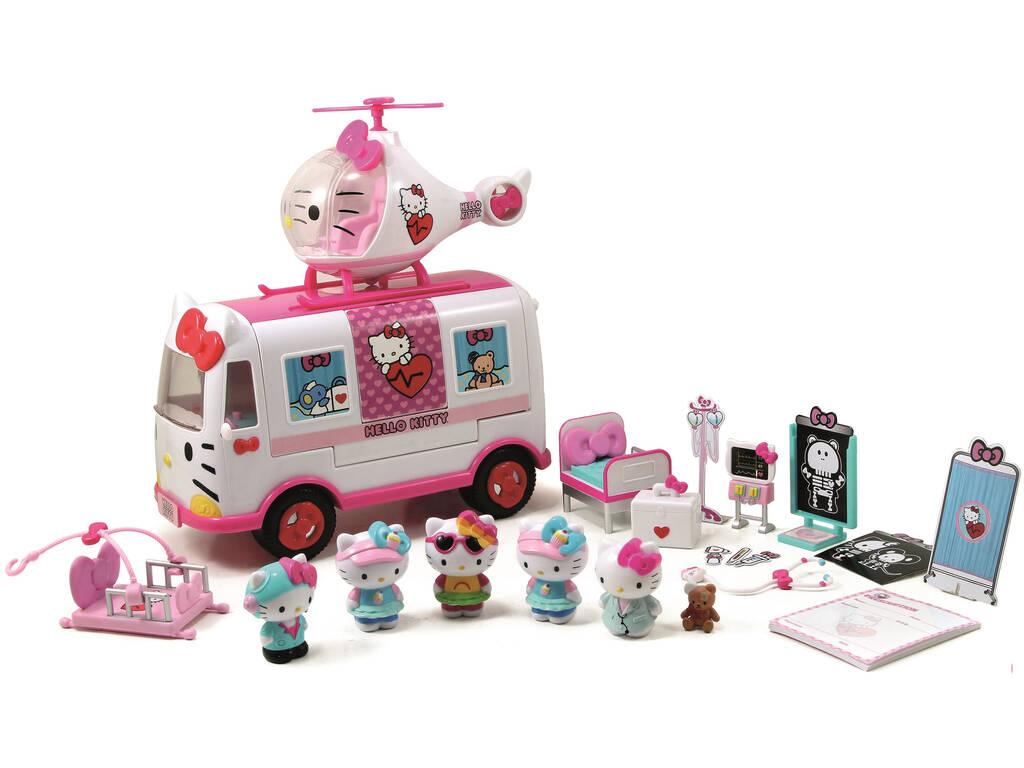 Hello Kitty Helicóptero Ambulancia y Figuras Simba 253246001