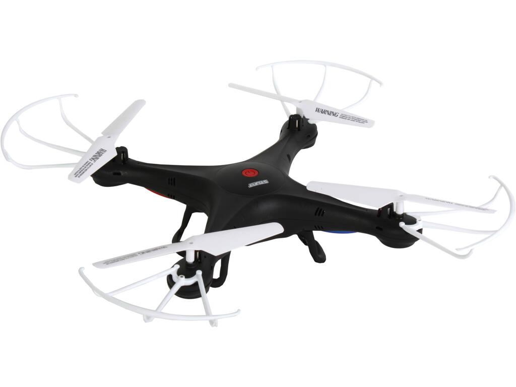 Dron Radio Control Negro 2.4GHZ 4x32x32 cm.
