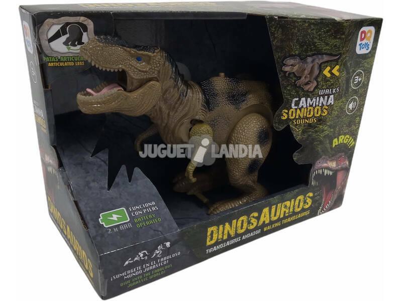 Dinosaurio 32 cm. Tiranosaurio Andador Verde