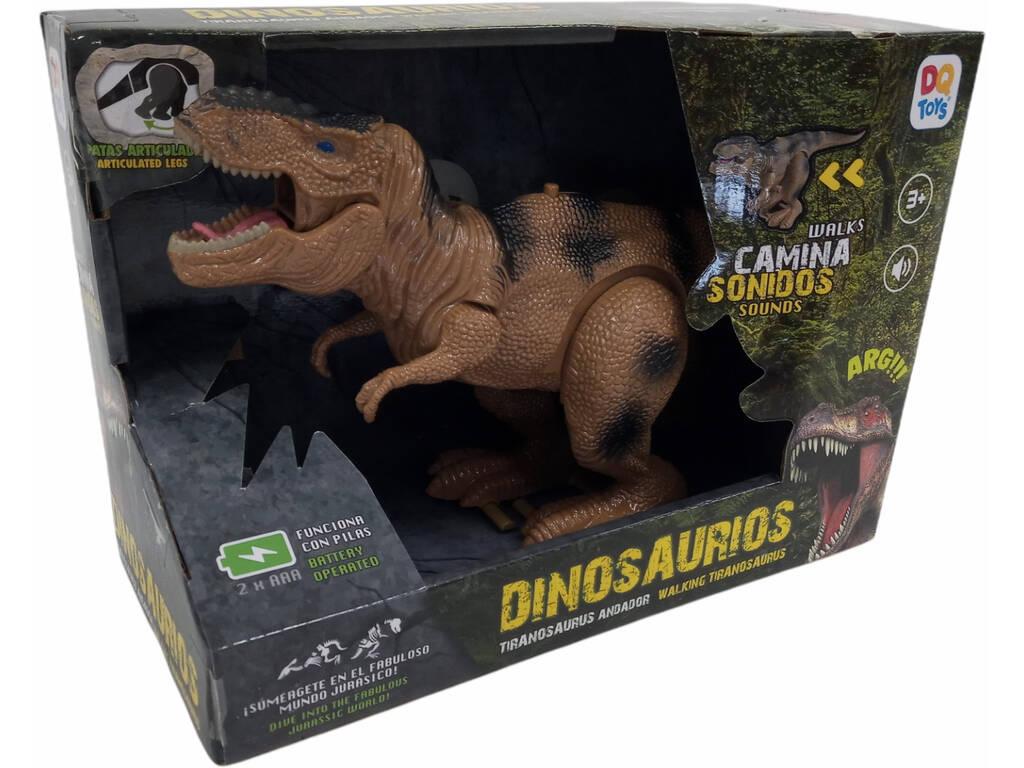 Dinosaurio 32 cm. Tiranosaurio Andador Amarillo