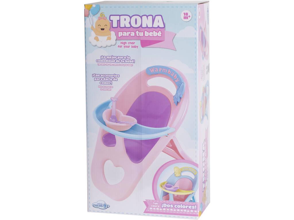 Trona Rosa para Bebé con Accesorios