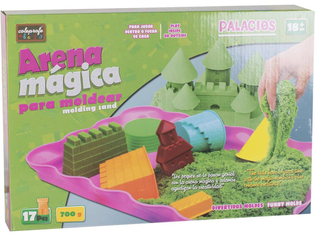 Arena Mágica 700gr. Verde con Accesorios 17 piezas