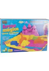 Arena Mágica 700 gr. Rosa Accesorios 10 piezas