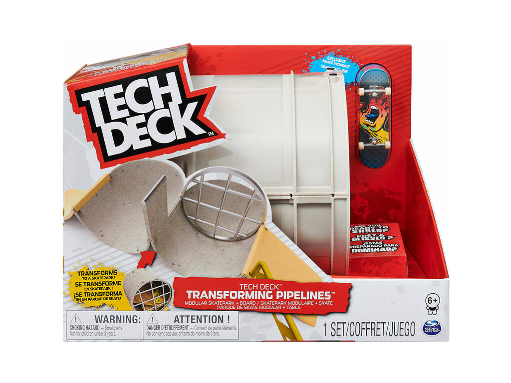 Tech Deck Transformer Pipeline Ramp Bizak 6192 9900