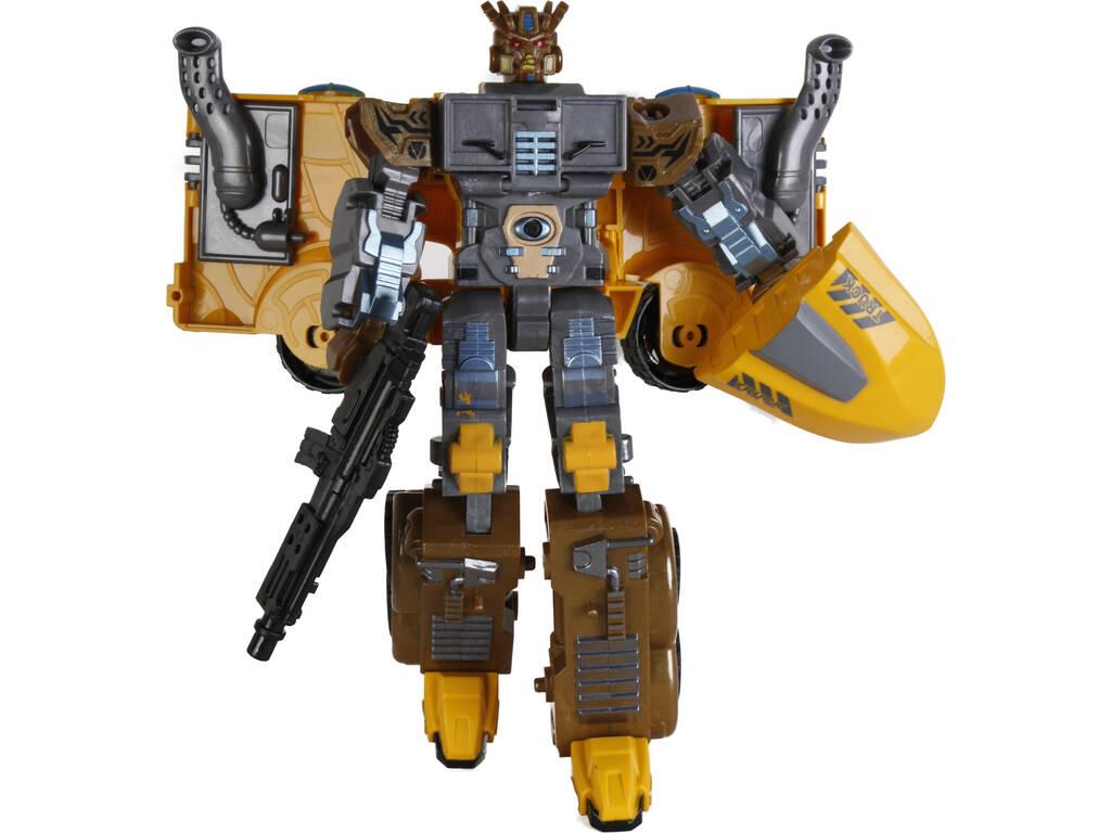 Camión Robot Convertible Amarillo