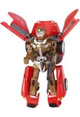 Coche Robot Convertible Rojo