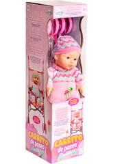 Bebé 33 cm. con Silla Paseo Plegable