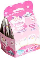 Pack 6 Couches pour Poupée de Bébé