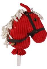Peluche Cabeza Caballo Con Palo Y Sonido 100 cm. Rojo