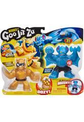 Heroes of Goo Jit Zu Pack 2 Figuras Battaxe Vs Pantaro Bandai 41052
