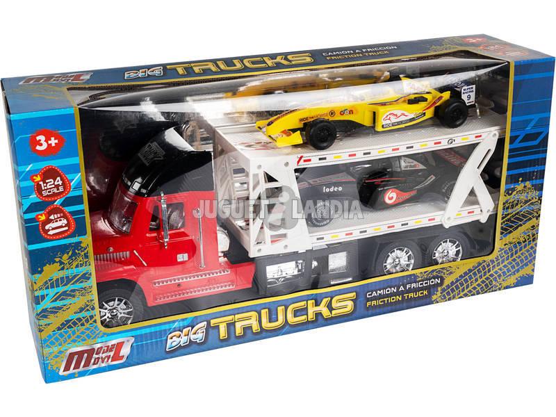Camión Portacoches Rojo con 2 Fórmula 1
