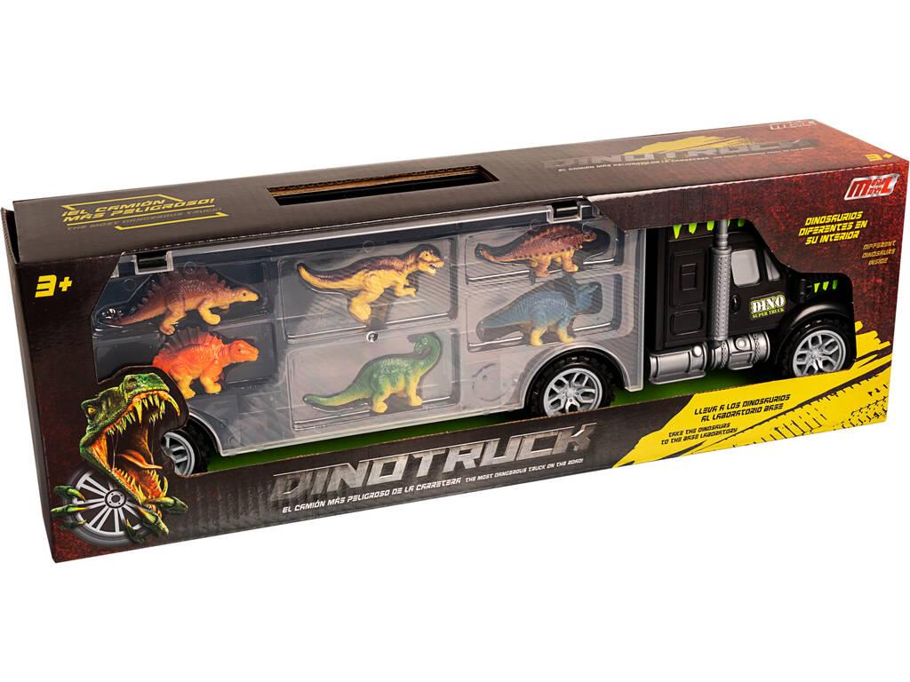 Camion Dinotruck avec 6 Dinosaures