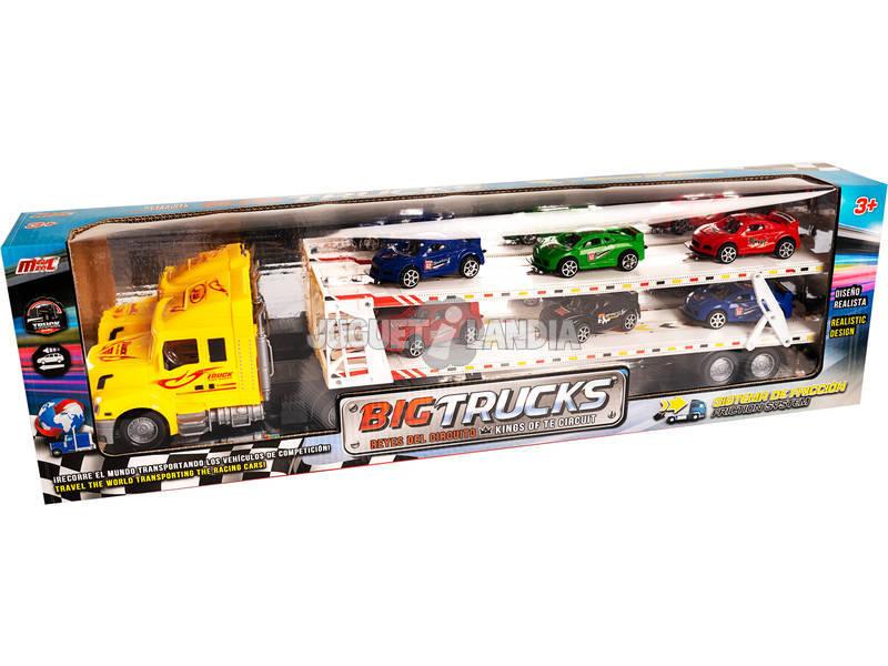 Camión Portacoches Amarillo con 6 coches