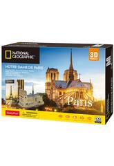 National Geographic Puzzle 3D Notre Dame World Brands DS0986H
