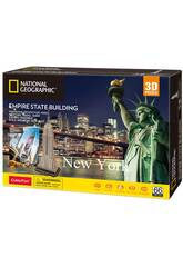 National Geographic Puzzle 3D Empire State Building World Brands DS0977H