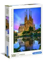 Puzzle 500 Barcelona Clementoni 35062