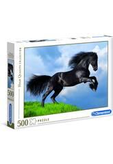 Puzzle 500 Caballo Negro Clementoni 35071