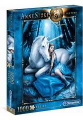 Puzzle 1000 Anne Stokes Blue Moon Clementoni 39462